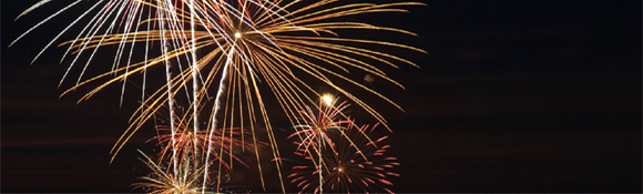 Fireworks for New Year