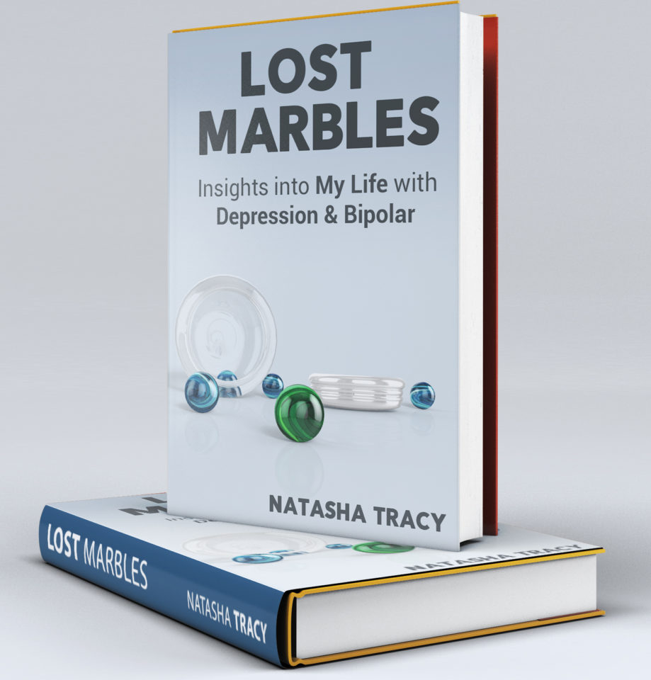 """Lost Marbles"" will be out in paperback next week! This new book on depression and bipolar by Natasha Tracy will be available on Amazon soon!"